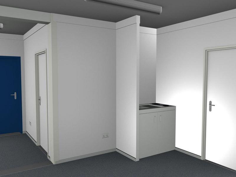 Bürocontainer innen