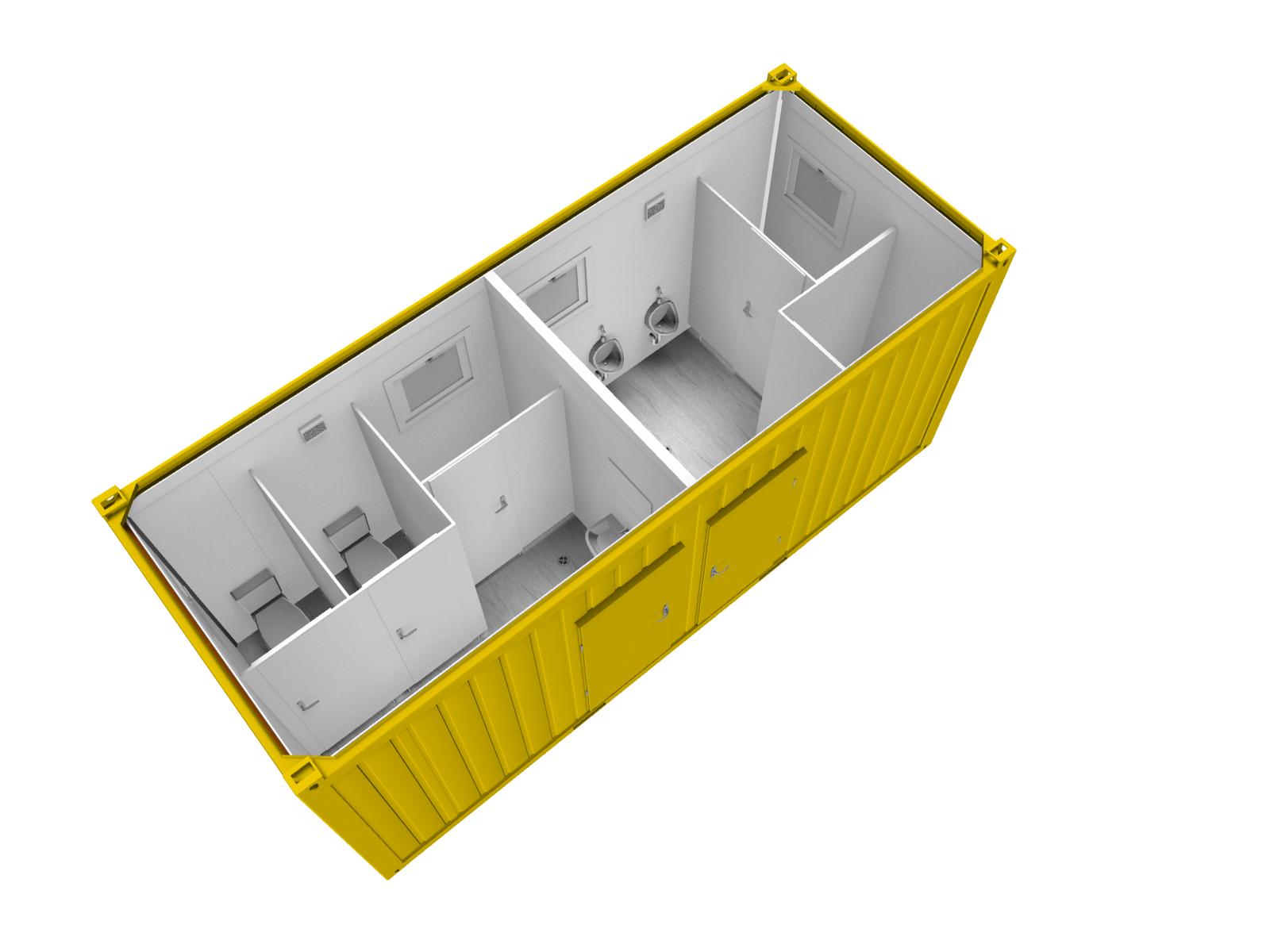 CONTAINEX Sanitarni kontejnerji RAL 1023